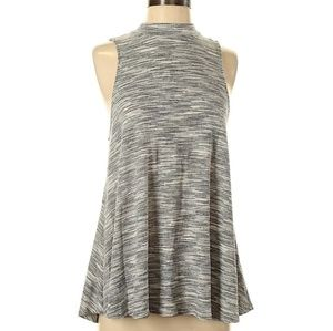 Maurices mock neck marled heather gray sleeveless